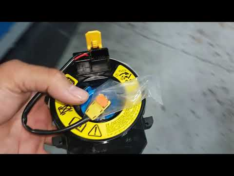 KIA RIO Air bag lights ON / How to replace spiral cable/ clock spring