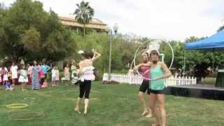 "Heady Hoop Tribe Group Routine at ""Bunny Land"""