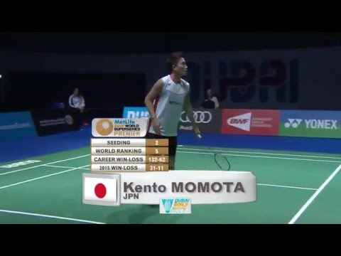 Dubai World Superseries Finals 2015 | Badminton F M4-MS | Viktor Axelsen vs Kento Momota