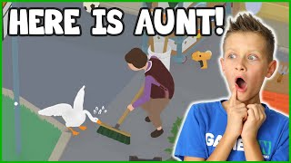 AUNT IS HERE WITH HER BROOM!!!