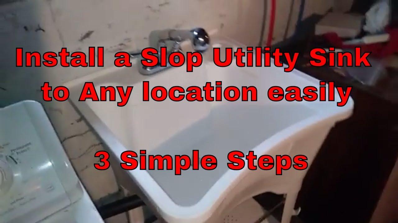 diy utility laundry sink install slop wash utility sink installation in basement