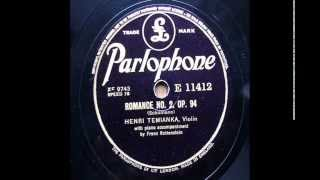 Henri Temianka (Vn)_ Schumann : Romance No.2 Op.94