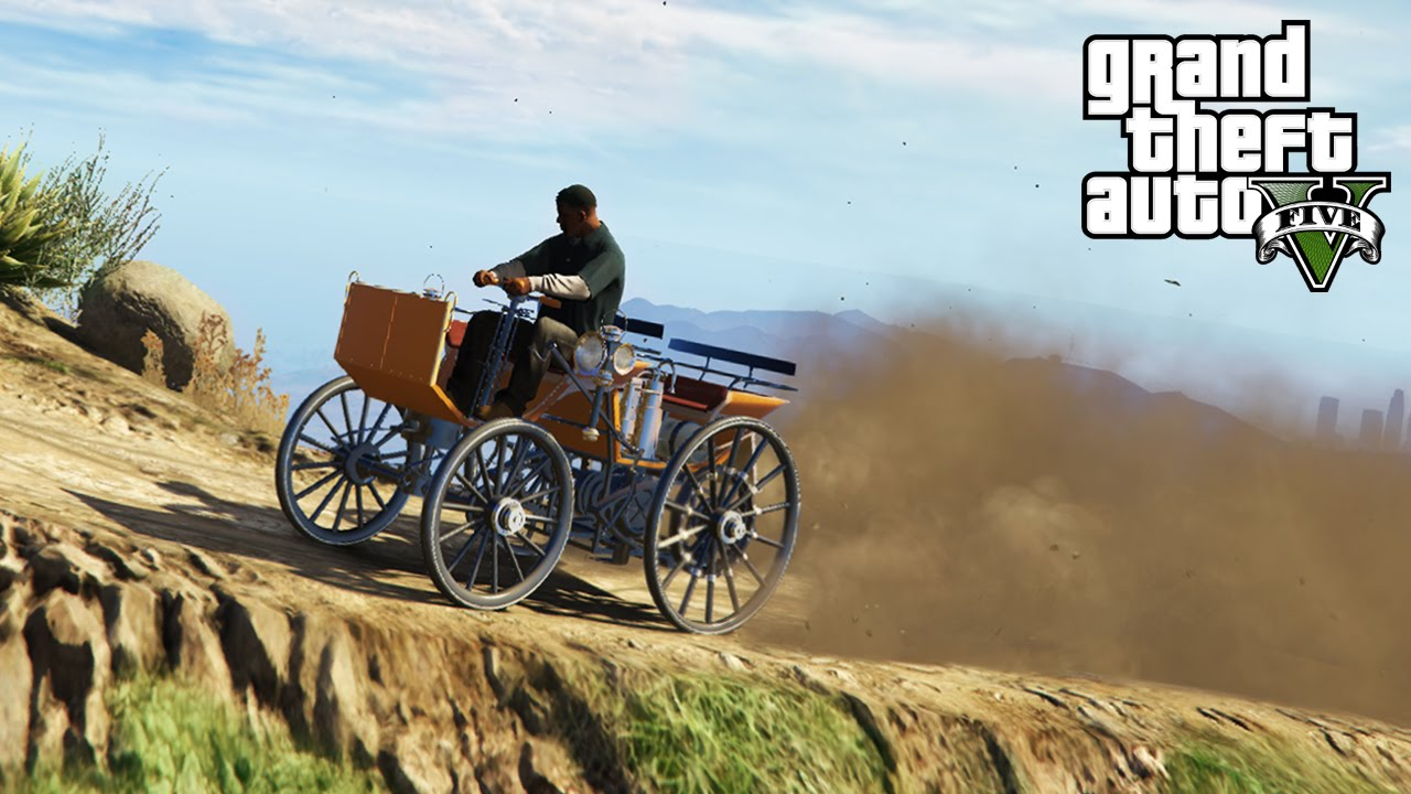 ☆ GTA 5 - Off-Roading in the WORLD\'S OLDEST CAR! 1886 Daimler 4x4 ...