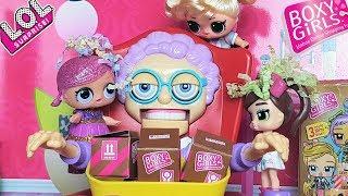 #БОКСИ ГЕРЛЗ И БАБУЛЯ #ЛОЛ НЕ ПОДЕЛИЛИ СЮРПРИЗЫ. Мультики с куклами ЛОЛ. #Boxy Girls Toy Surprise
