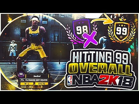 🚀 99.9% TO 99 OVERALL 🚀 LEGEND 99 REP UP AT 10PM PST 🔥 NBA 2K18 🔥 EX NBA 2K17 GOAT