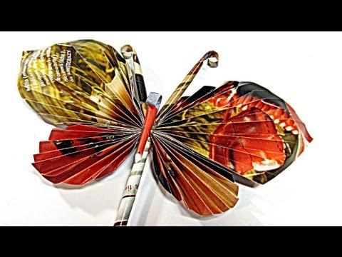 Como hacer mariposas de papel. Paper butterflies. de YouTube · Alta definición · Duración:  7 minutos 36 segundos  · Más de 665.000 vistas · cargado el 20.06.2013 · cargado por DIY Gustamontón