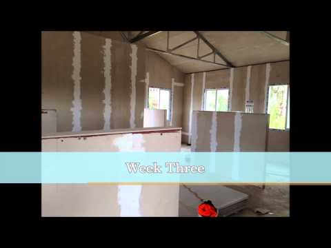 Trinidad people use 4 week to finish a foam cement panel prefab house