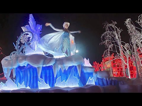FULL Disneyland Christmas Fantasy Parade 2014 with Frozen Anna Elsa and Olaf