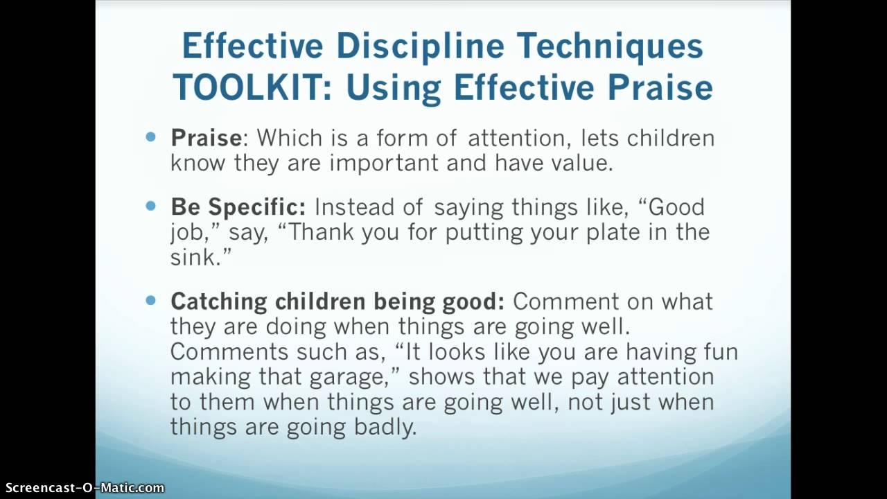 Providing Positive Discipline For Preschool Age Children