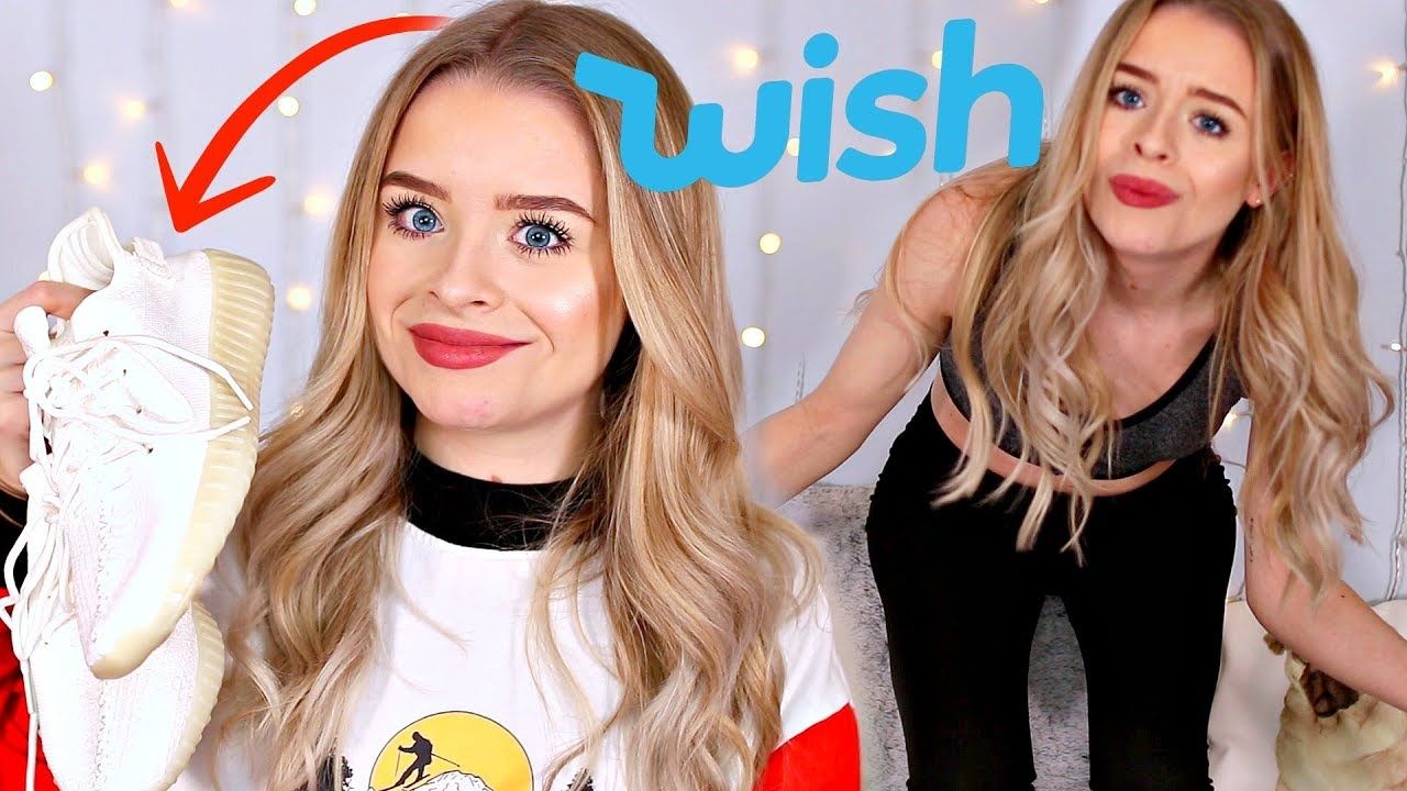 WISH HAUL!! SUPER CHEAP MAKEUP, GYM WEAR, SKINCARE - TRY ON | sophdoesnails