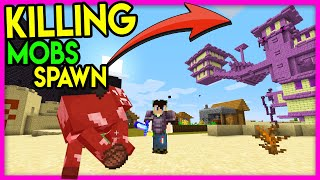 "Beating Minecraft but Killing Mobs Spawn Structures (Hindi) ""Mobs give OP Structure Challenge"""