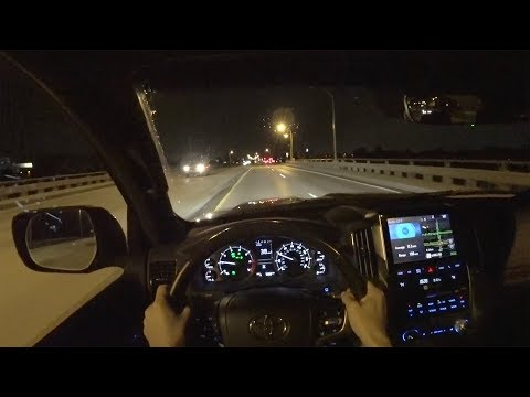 2018 Toyota Land Cruiser POV Night Drive - Comparing the LC200 to my GX 460