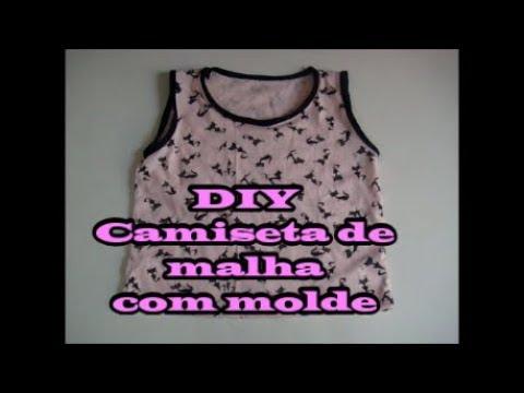 93056259d1 Camiseta de malha infantil com molde - DIY - YouTube