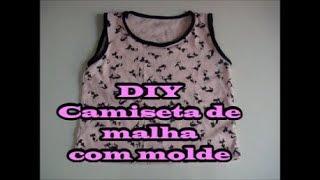 Camiseta de malha infantil com molde – DIY