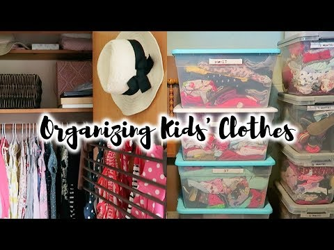 ORGANIZING KIDS' CLOTHES | Out of Season + Hand Me Downs!