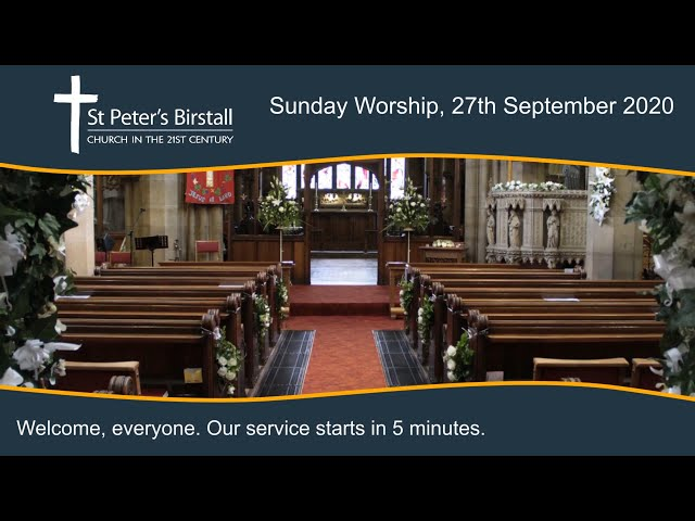 Online worship, 27th September 2020