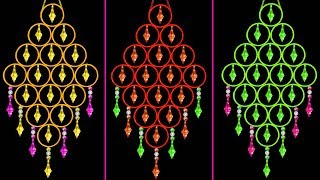 How To Make Wall Hanging With Bangles And Wool | Old Bangles Craft Ideas | Home Decorating Ideas