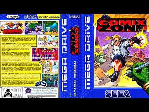 Comix Zone.  Русская версия + плохая концовка. Sega Mega Drive/Genesis