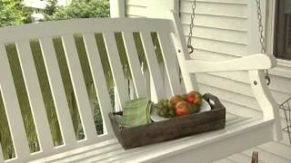 Pleasant Bay Painted Wood Porch Swing White - Product Review Video