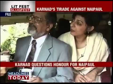 Karnad vs Naipaul, another legendary feud in the making-1