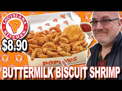 🍤 POPEYES BUTTERMILK BISCUIT SHRIMP Combo 🍤 & Ghost Pepper Wings 🌶🔥 For $8.90