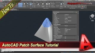 Autocad Tutorial How To Use Patch Surface Command