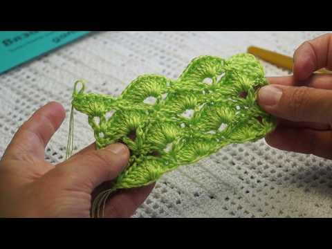 """Красивый узор """"Веера"""" вязание крючком,crochet Beautiful Pattern (узор №232)"""