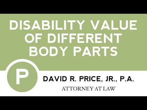 Disability Value of Different Body Parts | Greenville SC Workers' Compensation Attorney