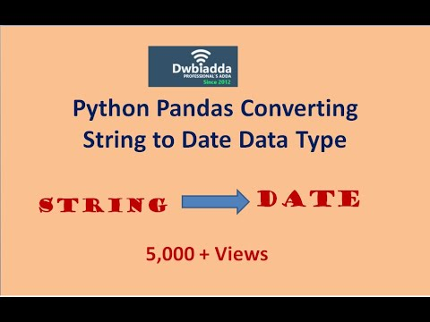 Convert datetime to string in pandas
