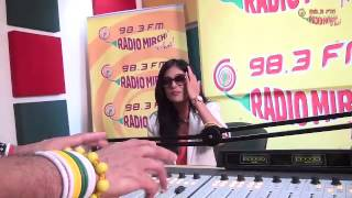 Amrita Rao with RJ Jeeturaaj at Radio Mirchi Studios!