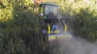 Mulczer leśny Zanon TL 1800 widia z ciągnikiem 116 KM