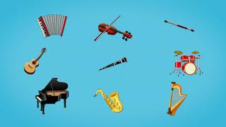 🎸🥁🎻Музыкальные инструменты. Развивающий мультфильм для детей. Повышаем словарный запас. (0+)