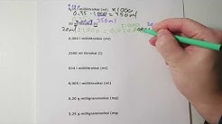 Yksikönmuunnoksia: litra, millilitra, gramma, milligramma