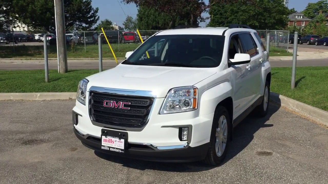 2017 Gmc Terrain Sle 2 Awd Park Ist Blind Spot Warning White Oshawa On Stock 171763