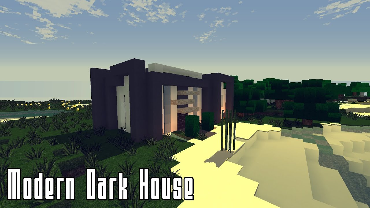 Minecraft Schlafzimmer Modern Minecraft Modern Dark House Part 1