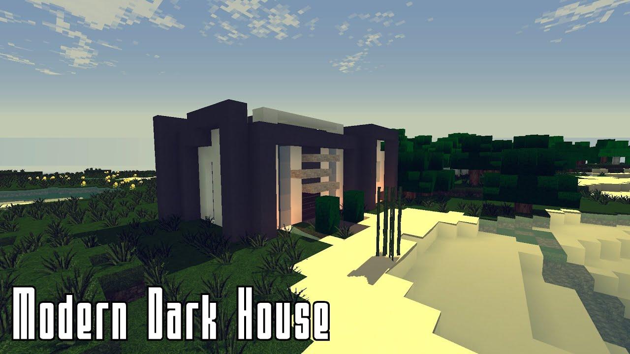 Minecraft modern dark house part 1 youtube for Modern house 6 part 8