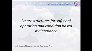 1-8. The Airforce Institute of Technology, Smart structures, Krzysztof Dragan