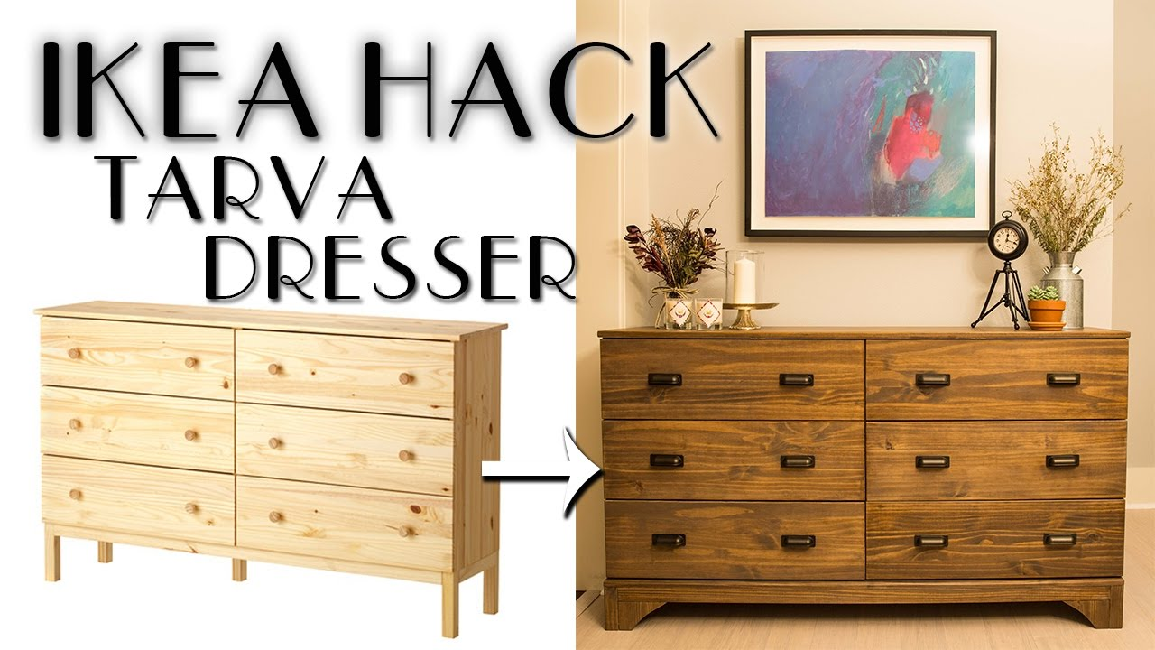 DIY IKEA Hack Tarva Dresser - YouTube