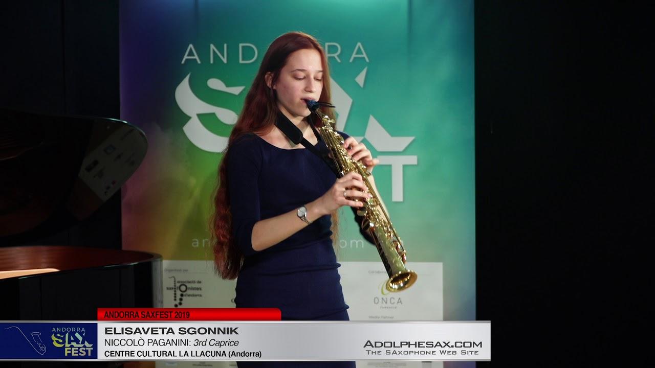 Andorra SaxFest 2019 1st Round   Elisaveta Sgonnik   3rd Caprice by Niccolo Paganini
