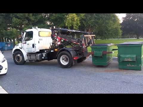 Waste management delivery truck
