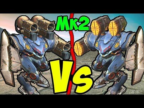 War Robots Mk2 ECU Spectre Taran VS Orkan Comparison Gameplay WR
