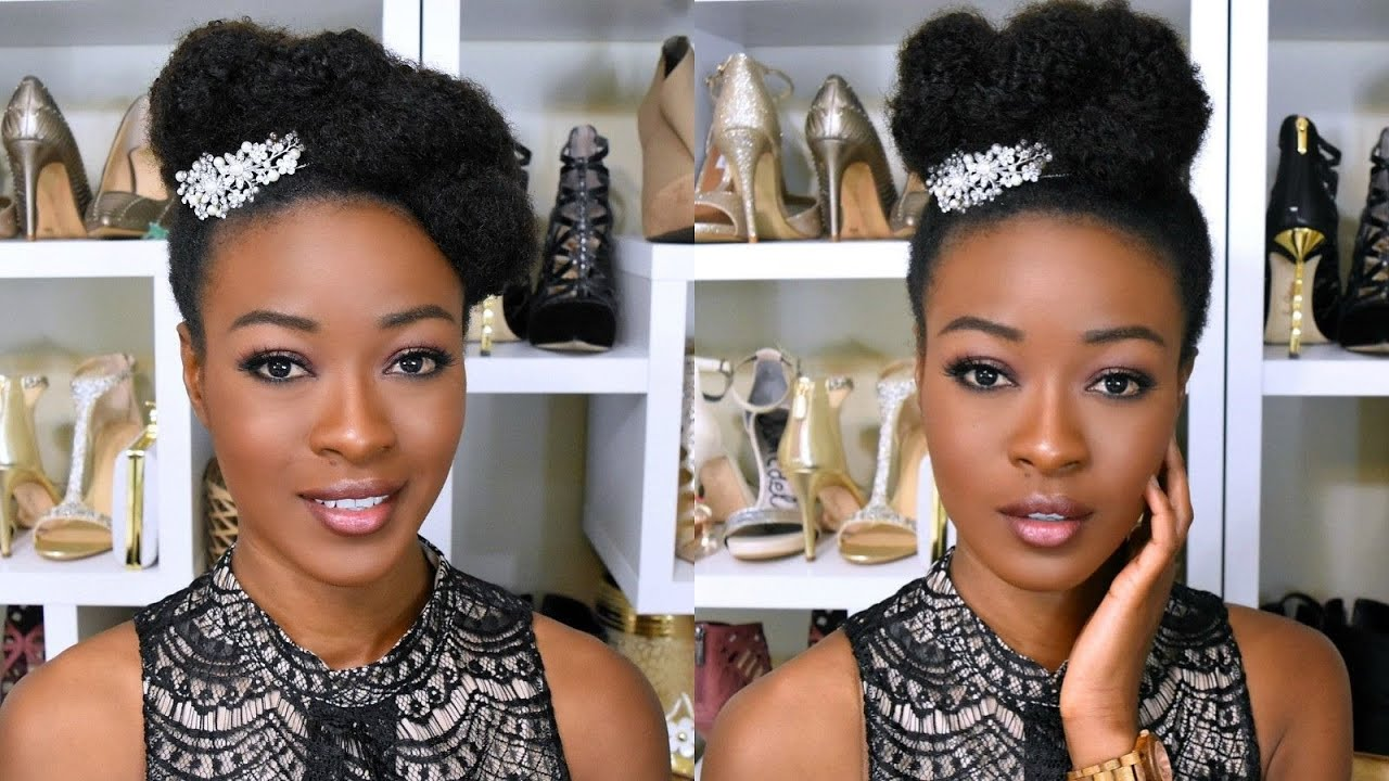 10 minute bridal/formal updo on 4c natural hair : hergivenhair coily texture