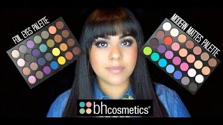 bh cosmetics foil eyes modern mattes palette review and swatches
