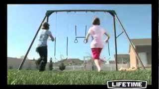 Lifetime 290038 Heavy Duty Three-station Metal Swing Set - Epic Swingset Review