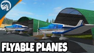 FLYING BIG PLANES, WORKING AIRPORT & RUNWAY | Farming Simulator 17 Multiplayer Gameplay