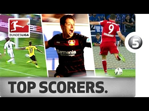 Five Goals Each For The Bundesliga's Top Scorers