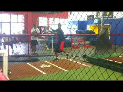 Dale Carey hitting with Mike Mosley
