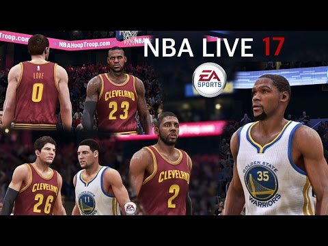New Look On NBA LIVE 17 Cavaliers Vs Warriors Jan 16, 2017 | MLK Day