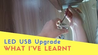Fitting USB LED Lights In The Motorhome - What I've Learnt