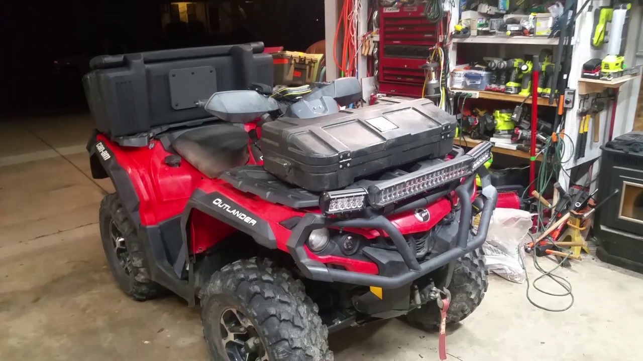 Can Am Outlander G2 Front Staorage Case Removable Tararack